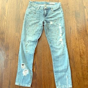 Blank NYC distressed studded jeans